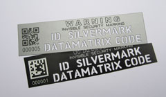 datamatrix silver mark labels