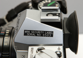 camera asset labels