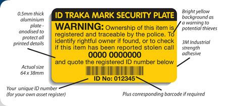 ID Trakamark Security Plates