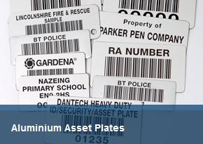 Aluminium Asset Plates