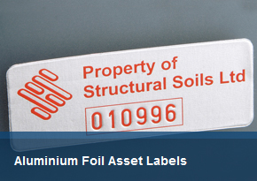 Aluminium Foil Asset Labels