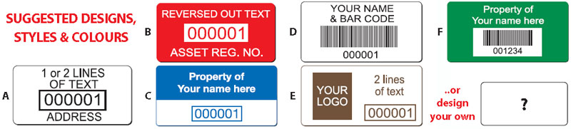 Choose An Asset Label Design