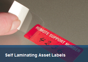 Self Laminating Asset Labels