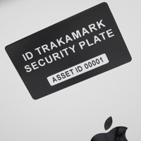 iPad ID security plate