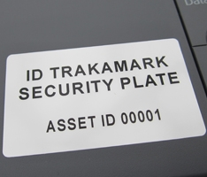 tablet ID security plate